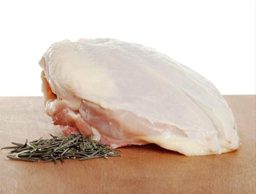 All natural bone in, skin on chicken breast