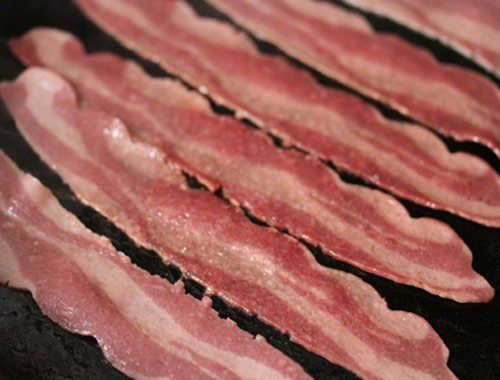 All natural uncured cherry wood smoked bacon