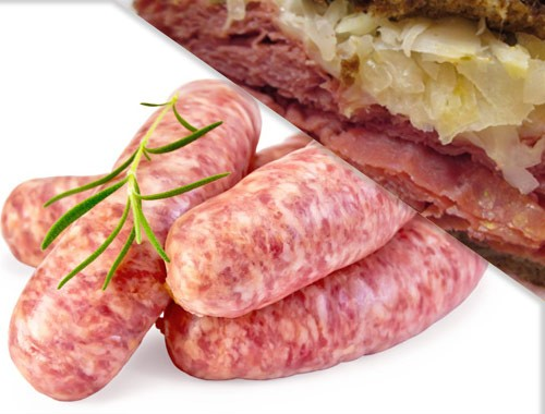 All Natural Reuben Brats